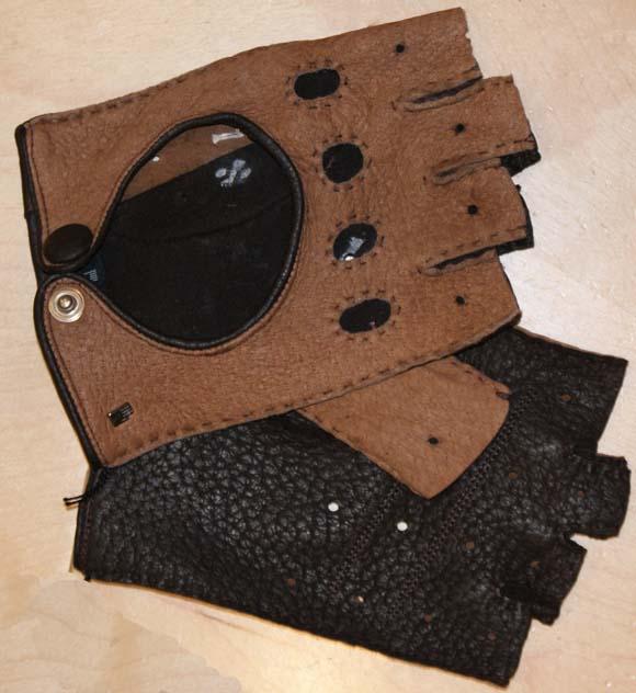 Peccary Autohandschuh von Roeckl bicolor Peccary Leder