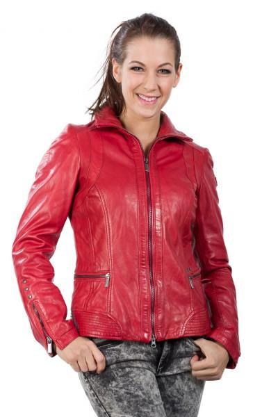 Feminine Lederjacke von Milestone rot