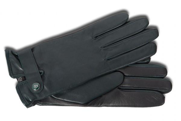 Klassischer Handschuh für Damen mit Touch-Funktion in dunkelgrün