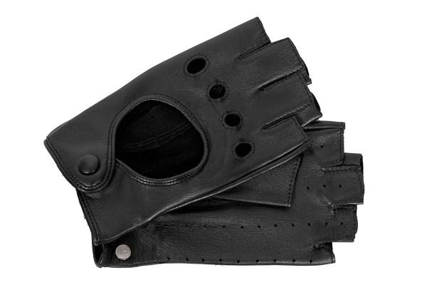 Ungefütterte Halbfinger-Autofahrer Handschuhe Damen Roeckl schwarz