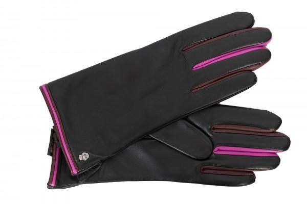 Roeckl Damenhandschuhe Colour-Mix schwarz