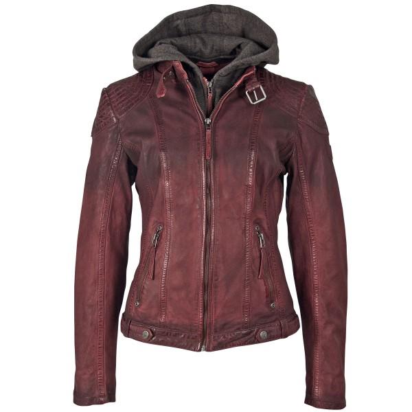 Gipsy Damen Lederjacke rot mit Farbverlauf