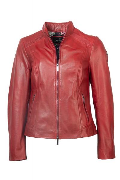 Milestone Lederjacke rot mit markanter Schulter