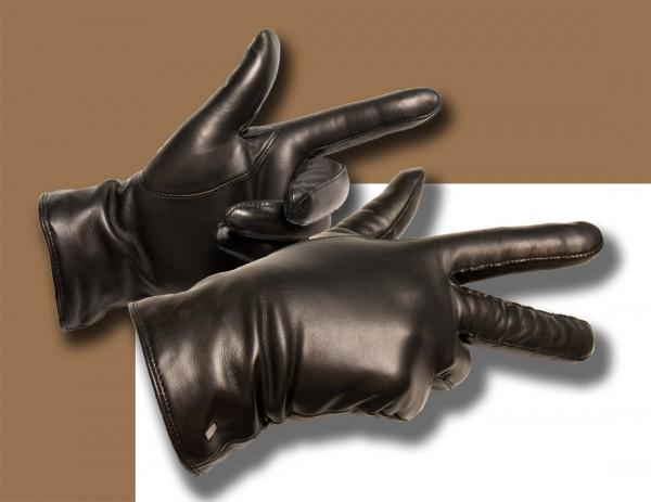 Toller schwarzer Damenhandschuh mit warmem Wollfutter