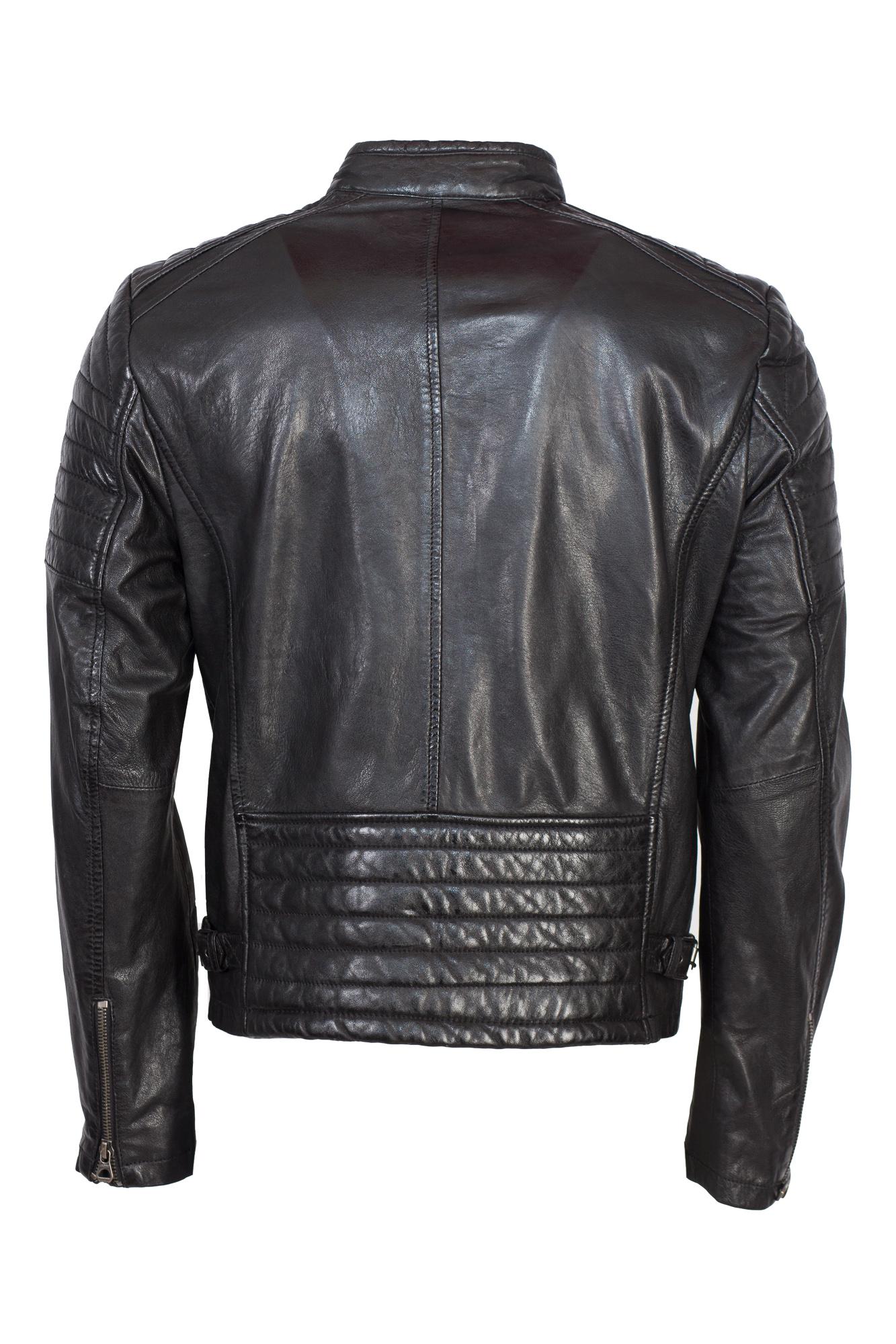 Coole Bikerjacke von Gipsy in schwarz | Lederjacken für