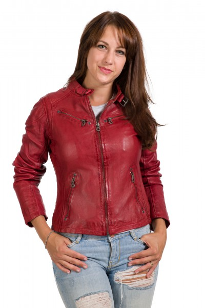 Gipsy Lederjacke rot red Sandy