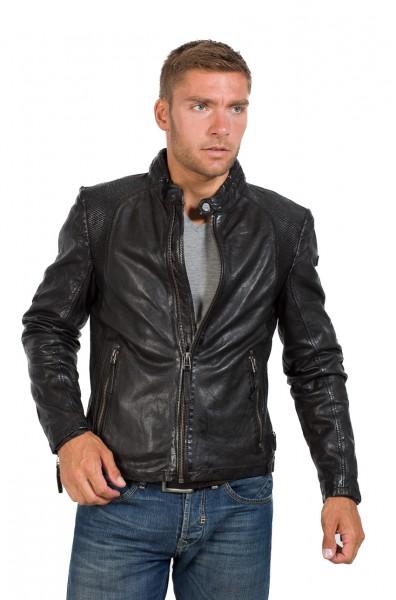 Unifarbene Bikerjacke von Gipsy in schwarz
