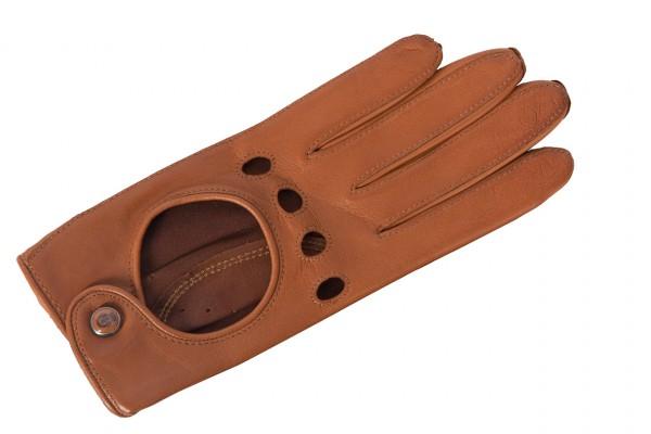 Sattelfarbener Autohandschuh handschuhweiches Leder von Roeckl in cognac