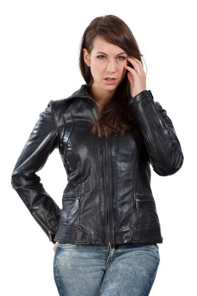 Wunderschöne Lederjacke von Milestone in schwarz