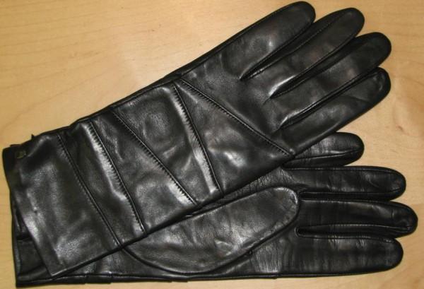 Modischer Wickelhandschuh schwarz