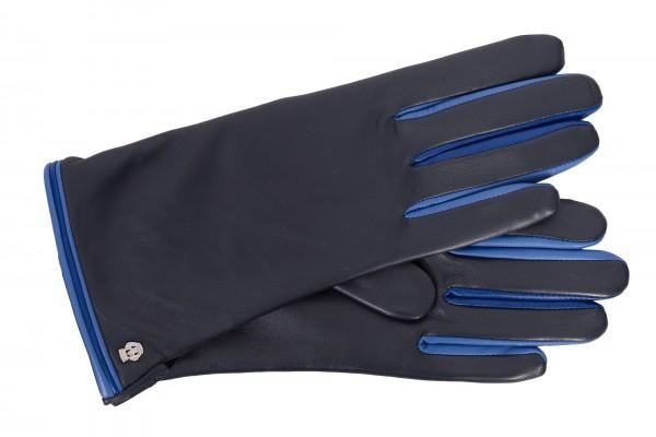 Roeckl Damenhandschuhe Colour-Mix Paspel schwarz/blau