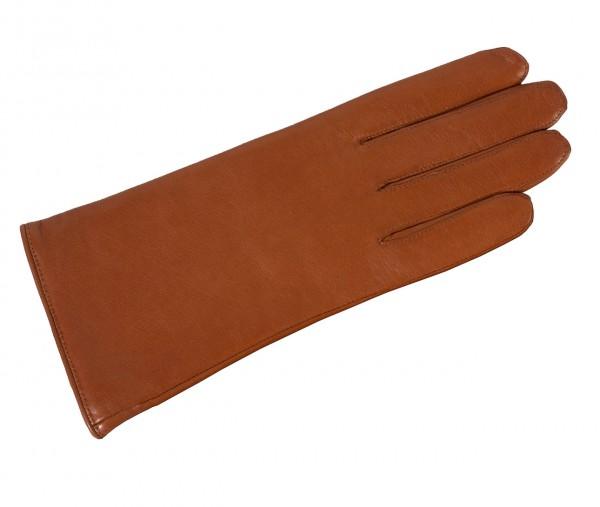 Klasse warmer Damenhandschuh aus butterweichem cognac Leder von Roeckl
