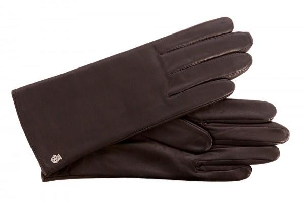 Klassischer Damenhandschuh von Roeckl aus Ziegennappa dunkelbraun