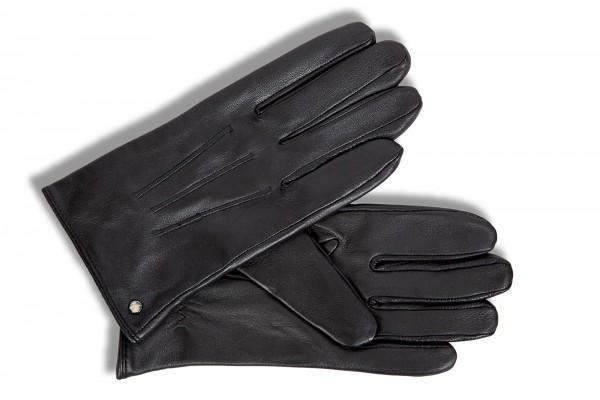 Klassische Herrenhandschuhe von smarthands by Roeckl in schwarz