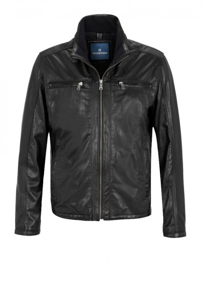 Sportive Lederjacke von Milestone in schwarz