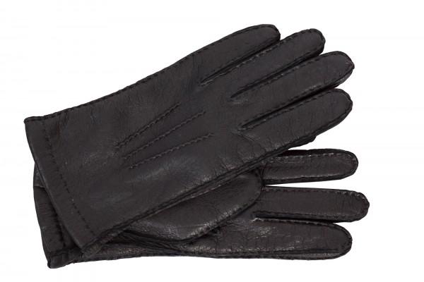 Leatherando Peccary Lederhandschuhe Winter warm schwarz