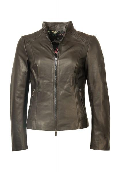 Milestone Damen Lederjacke schwarz
