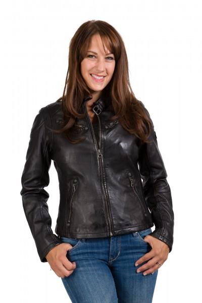 Gipsy Bikerjacke black schwarz Front Sandy