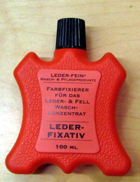 Fixiermittel als Vorbehandlung der Lederwäsche