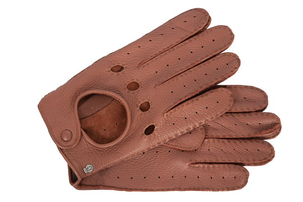 Klassische Autofahrer-Handschuhe Herren von Roeckl in cognac