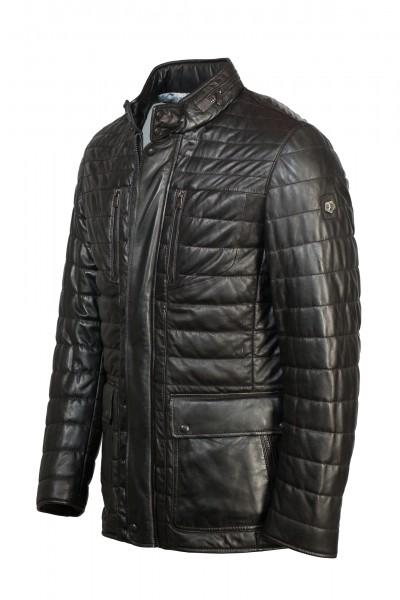 Außergewöhnliche Lederjacke von Milestone in schwarz