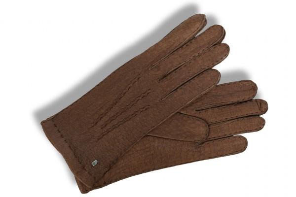Klassischer Peccary Damenhandschuh von Roeckl in braun