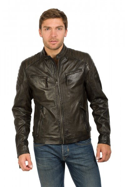 Gipsy Lederjacke darkbrown Chester
