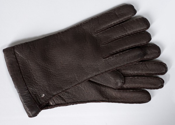 Phantastischer Roeckl Peccary Handschuh dunkelbraunes Peccary Leder