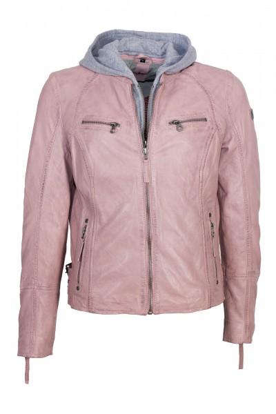 Gipsy Bikerjacke Kapuze rosa