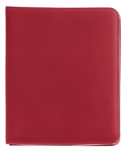 Rotes iPad Booklet aus feinstem Leder