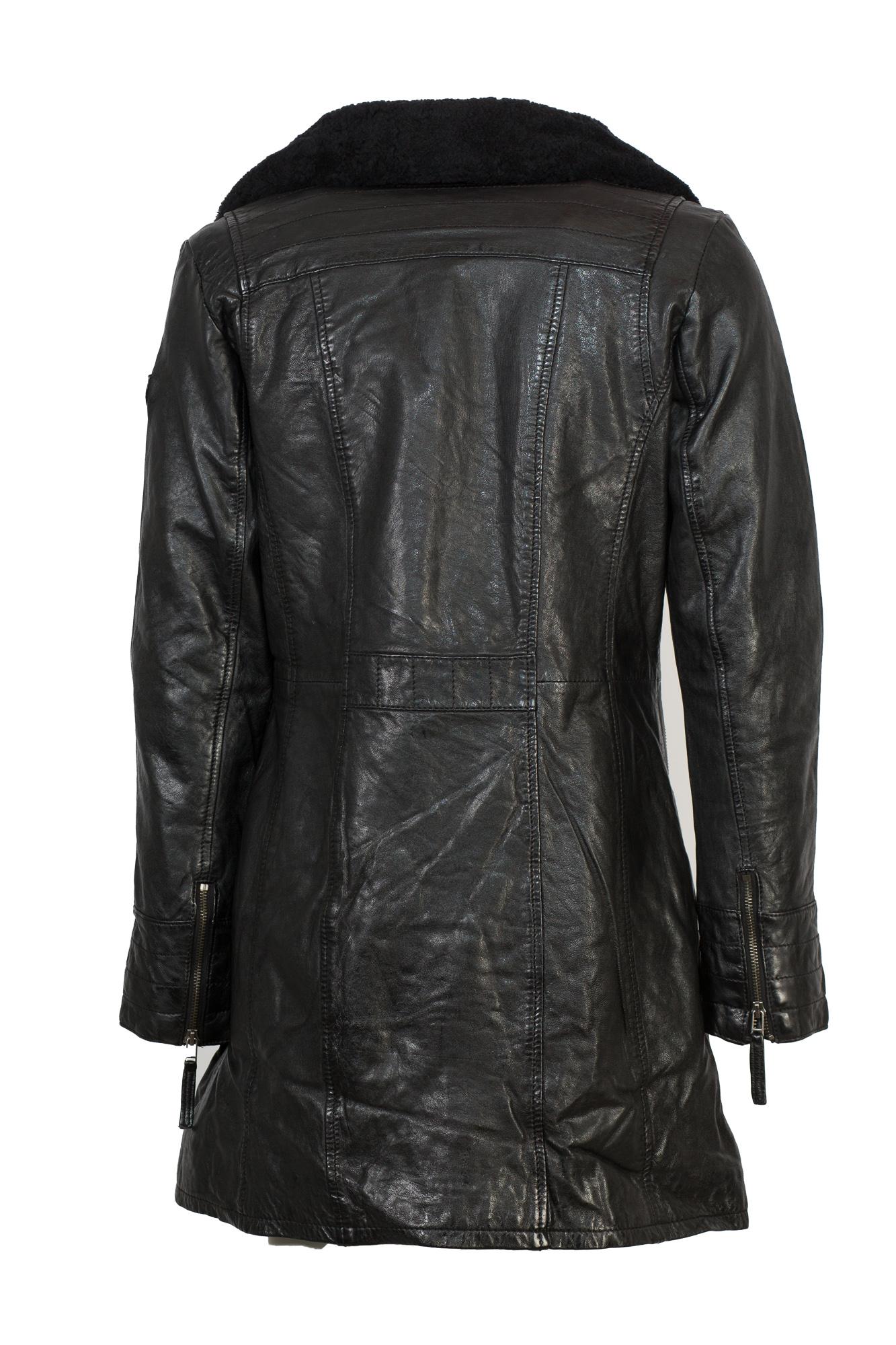 Trendiger Kurzmantel aus Leder von Gipsy in schwarz