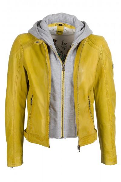 Gipsy Bikerjacke gelb Angel