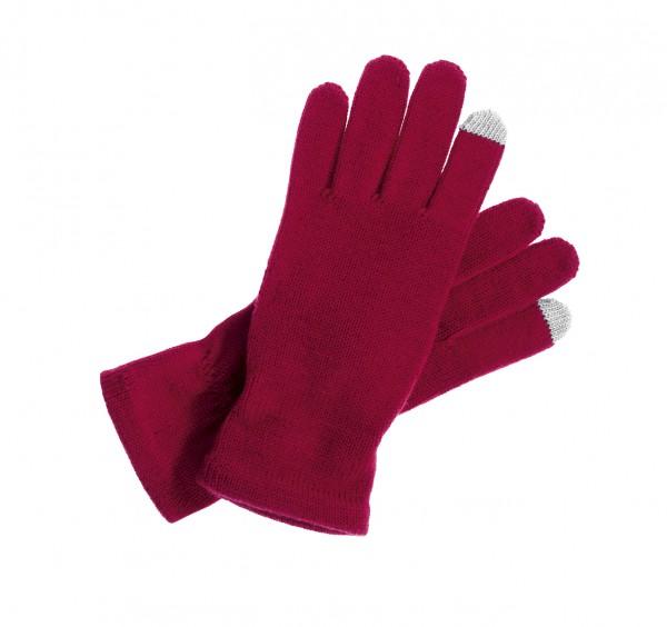 Touch taugliche Strick - Handschuhe für Tablet und Smartphones rot