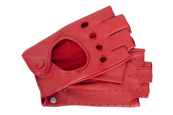 Sportliche Halbfinger Autofahrerhandschuhe Damen Roeckl rot
