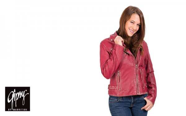 Damen-Bikerjacke-Gipsy-Perfecto-rot