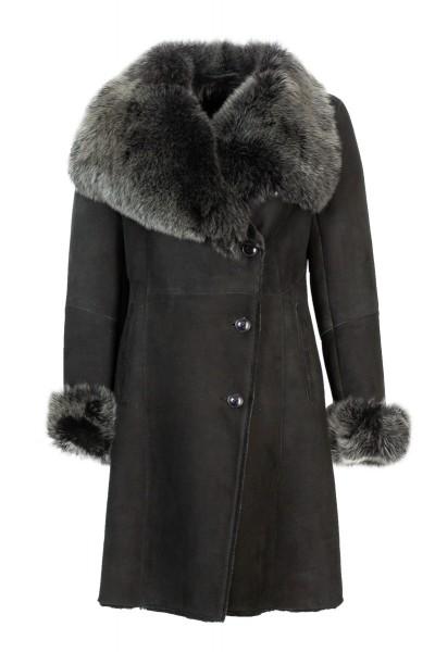 Maddox Damen Lammfelljacke schwarz mit Toscanalammfell