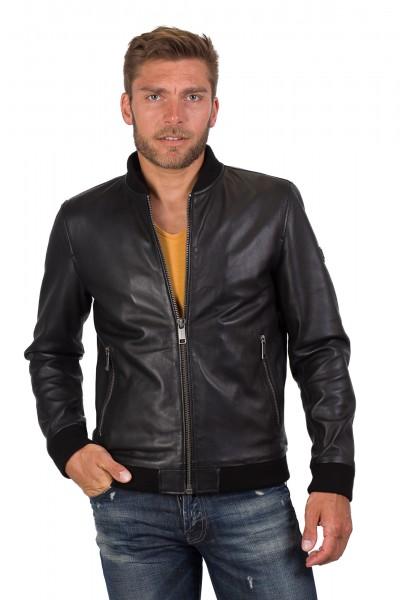 quite nice 39a67 aae40 Modischer Lederblouson von Rockandblue in schwarz