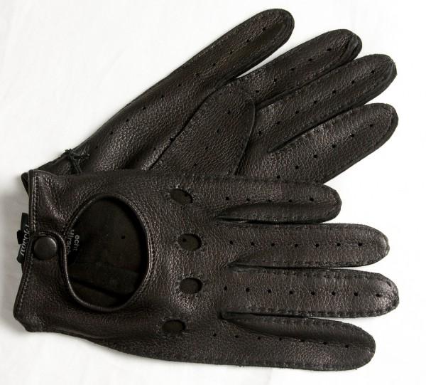 Schwarze Autohandschuhe von Roeckl für Herren aus feinstem Hirschleder
