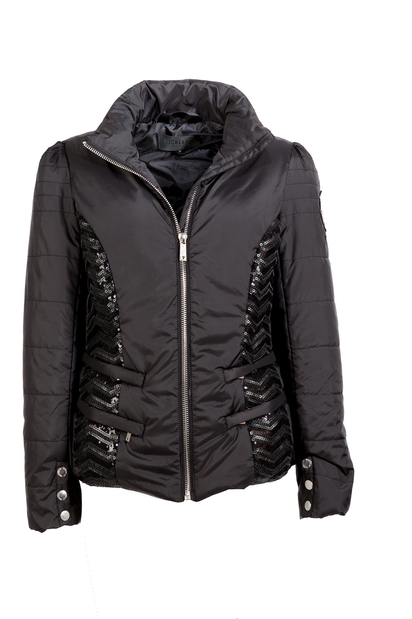 Modische Jacke im Daunenjackenstil von Nickelson in schwarz