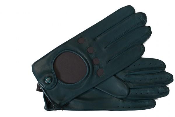 Junger sportiver Autofahrer Handschuh von Roeckl in grün