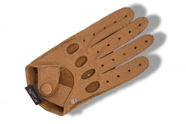 Sportive Autofahrerhandschuhe von Roeckl in creme