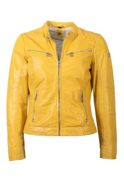Gipsy Damen Lederjacke gelb
