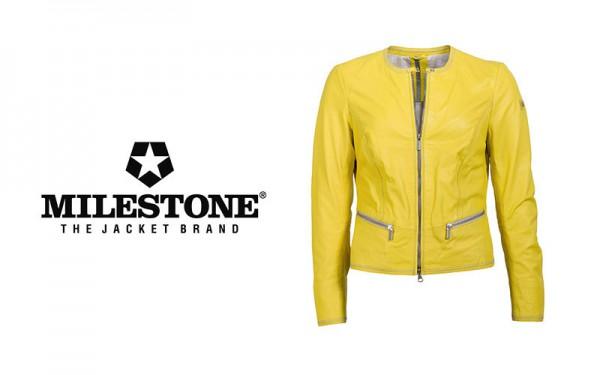 Milestone-Lederjacke-Damen-Gelb-Artikel-Joni