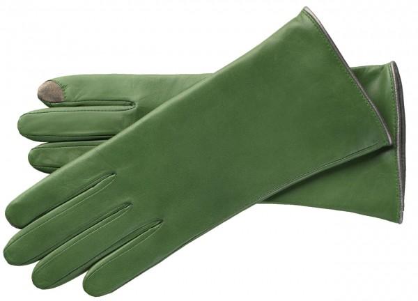 Klassische Lederhandschuhe mit Touchfunktion
