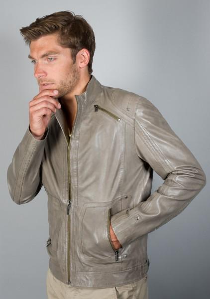 TOP modische Style Lederjacke von Oakwood taupe