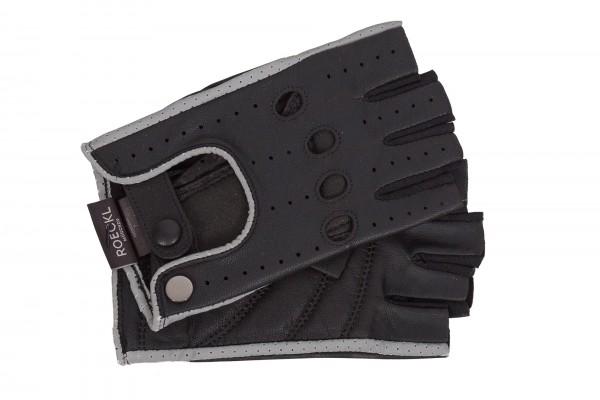 Sportliche Halbfinger Handschuhe von Roeckl in schwarz