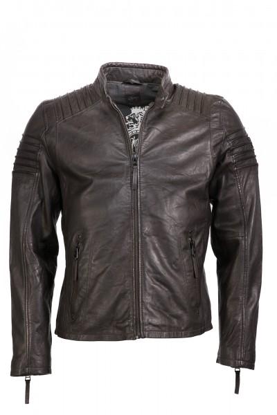 Gipsy Bikerjacke dunkelbraun Copper