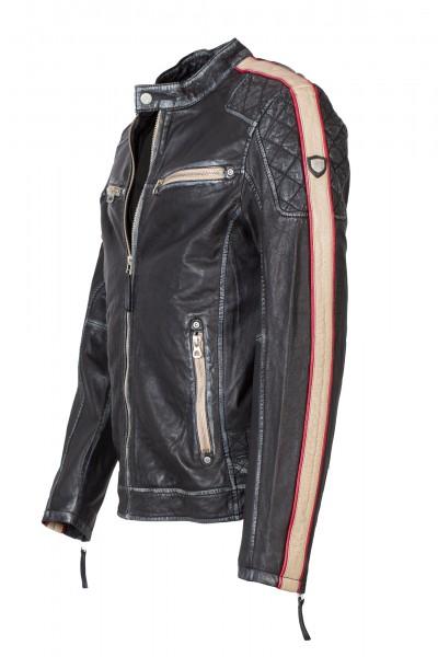 6f0586e08361 Lässige Bikerjacke von Gipsy in schwarz   Lederjacken für Herren ...