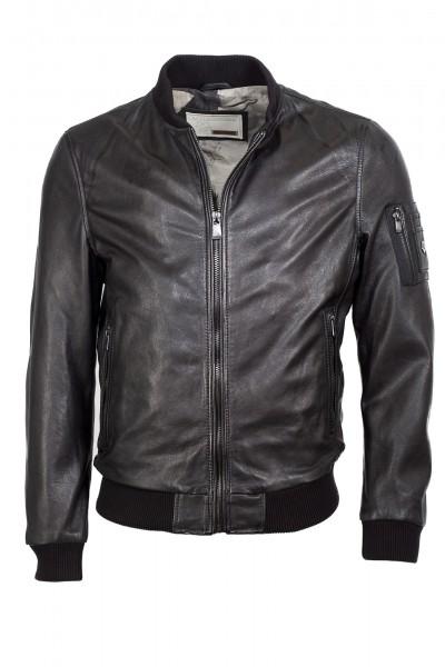 huge selection of d0f57 eb704 Sportiver Lederblouson von Milestone in schwarz