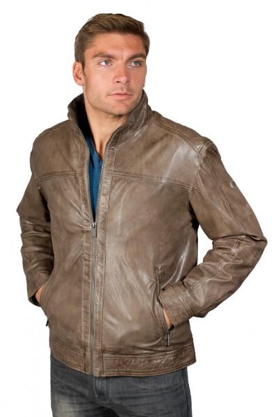 Taupe farbene Lederjacke von Trapper Zwischengrößen verfügbar!